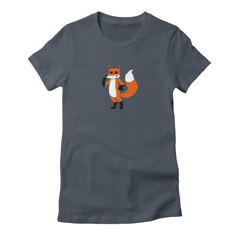 Mad Genius Pixel Fox Women's T-Shirt by The Mad Genius Artist Shop
