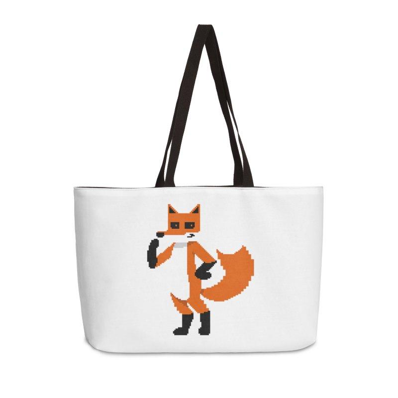 Mad Genius Pixel Fox Accessories Bag by The Mad Genius Artist Shop