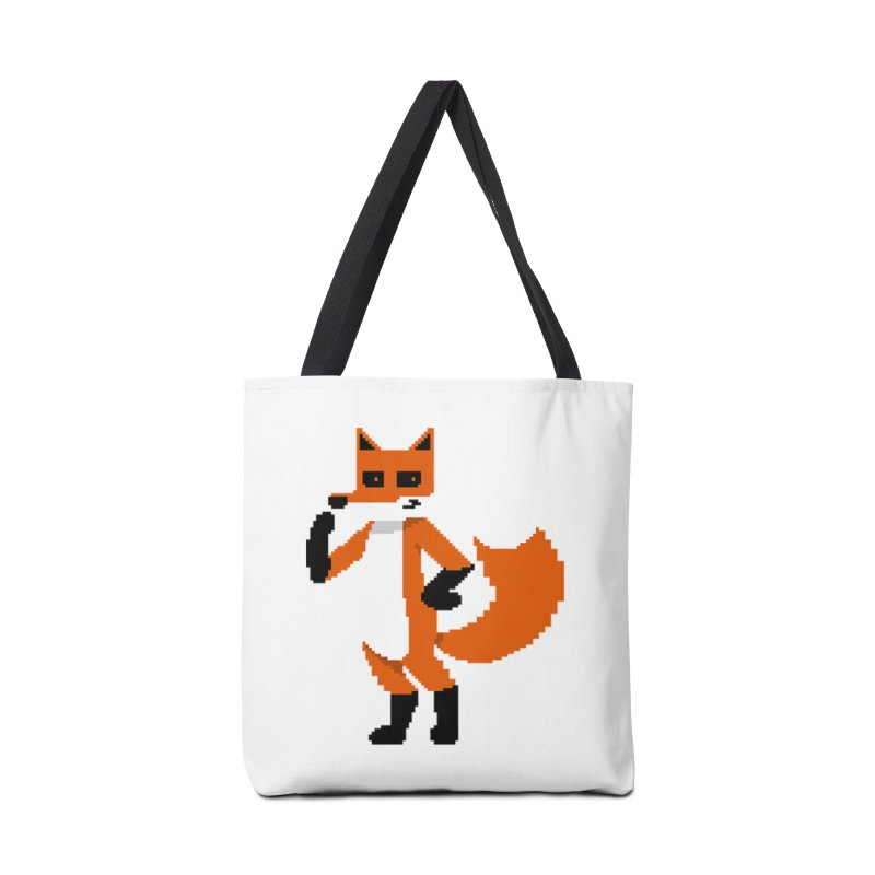 Mad Genius Pixel Fox Accessories Bag by The Mad Genius Artist Shop