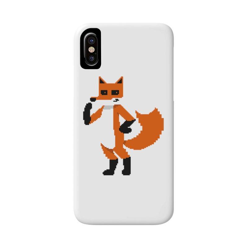 Mad Genius Pixel Fox Accessories Phone Case by The Mad Genius Artist Shop