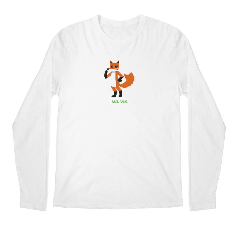 MR. VIX Pixel Fox Men's Regular Longsleeve T-Shirt by The Mad Genius Artist Shop