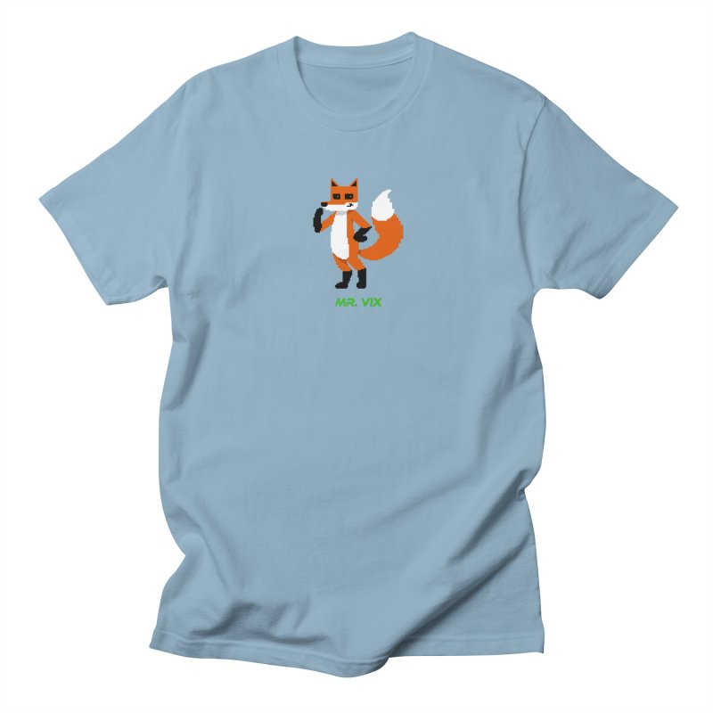 MR. VIX Pixel Fox Men's T-Shirt by The Mad Genius Artist Shop