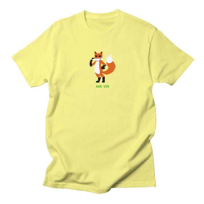 MR. VIX Pixel Fox Women's Regular Unisex T-Shirt by The Mad Genius Artist Shop
