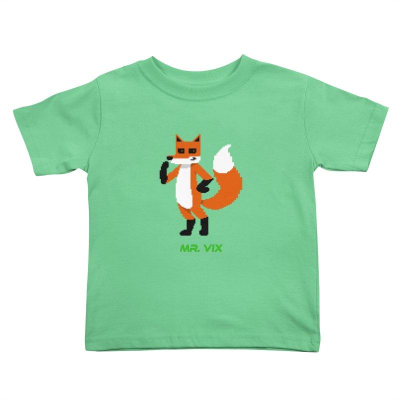 MR. VIX Pixel Fox Kids Toddler T-Shirt by The Mad Genius Artist Shop