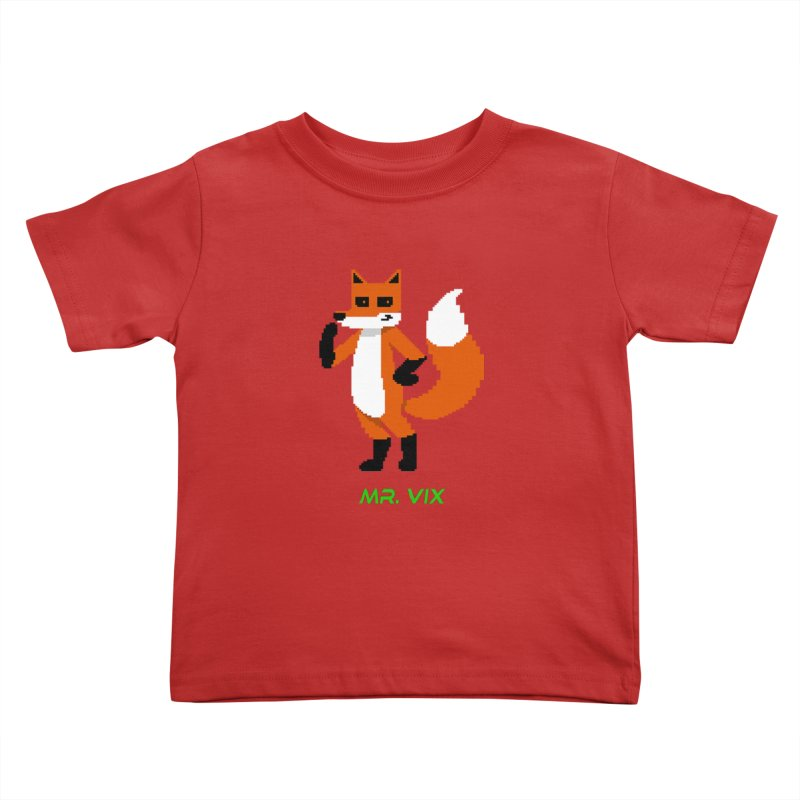 MR. VIX Pixel Fox Kids Toddler T-Shirt by The Mad Genius Artist Shop