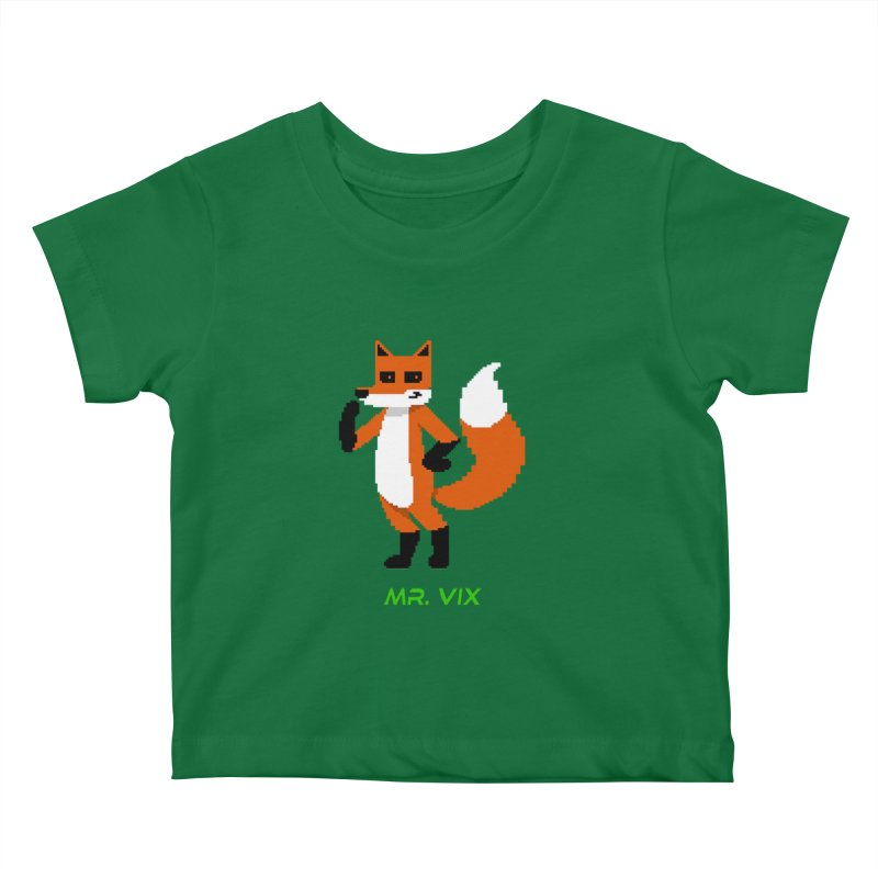 MR. VIX Pixel Fox Kids Baby T-Shirt by The Mad Genius Artist Shop