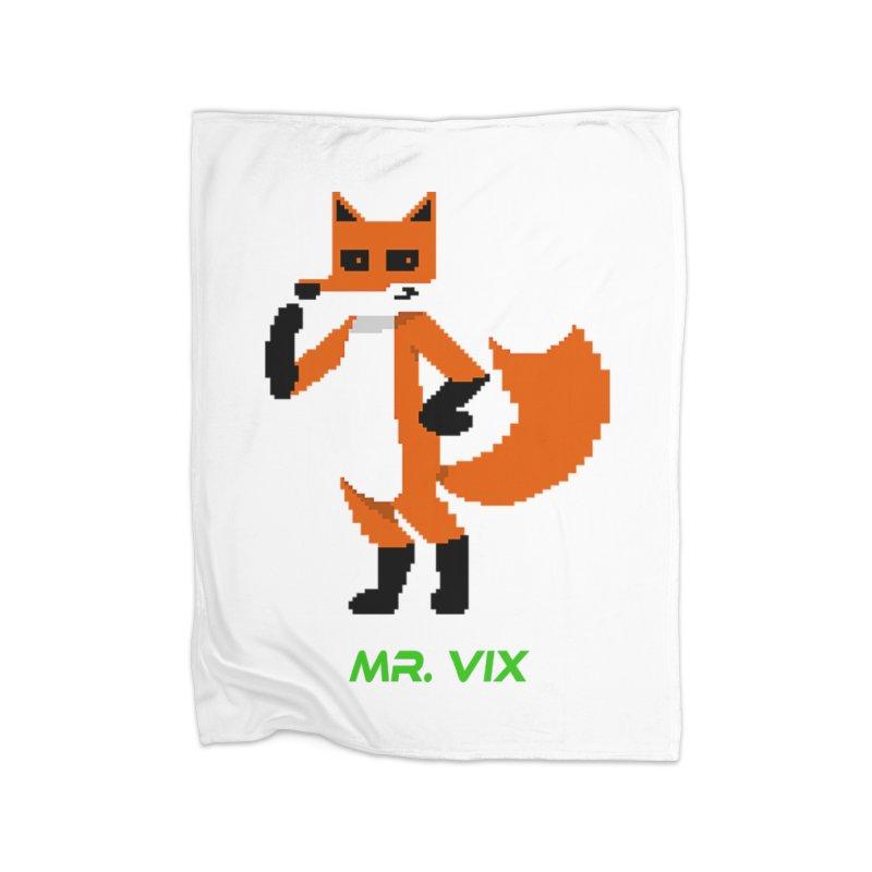 MR. VIX Pixel Fox Home Blanket by The Mad Genius Artist Shop