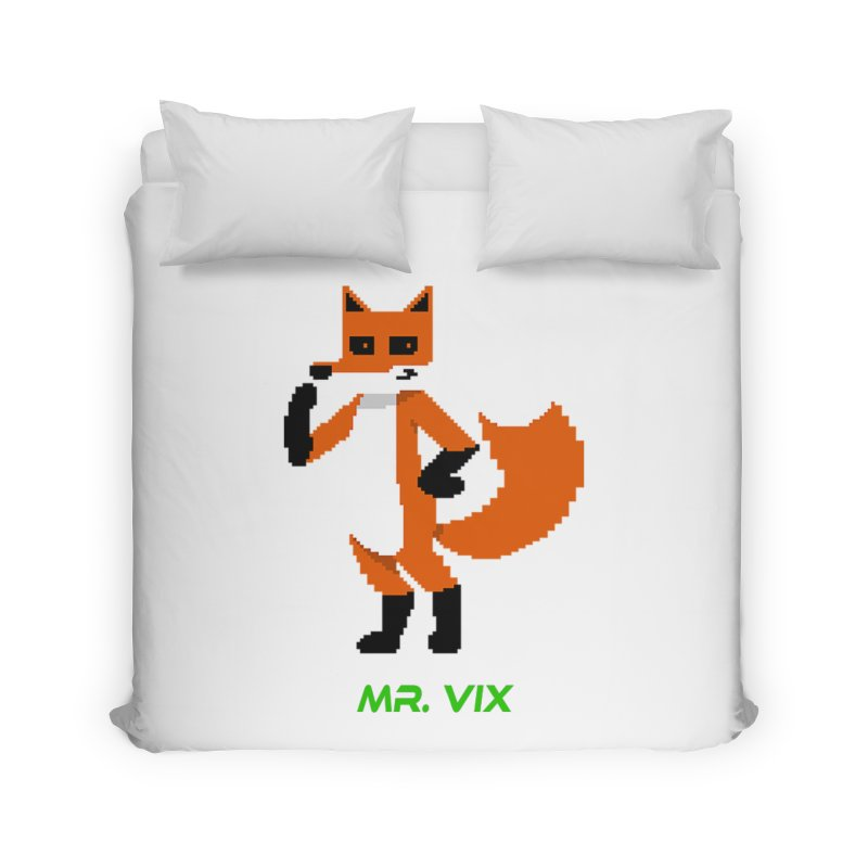 MR. VIX Pixel Fox Home Duvet by The Mad Genius Artist Shop
