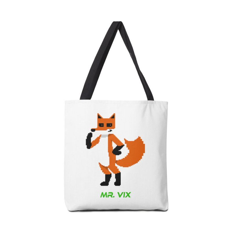 MR. VIX Pixel Fox Accessories Bag by The Mad Genius Artist Shop