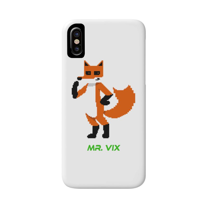 MR. VIX Pixel Fox Accessories Phone Case by The Mad Genius Artist Shop