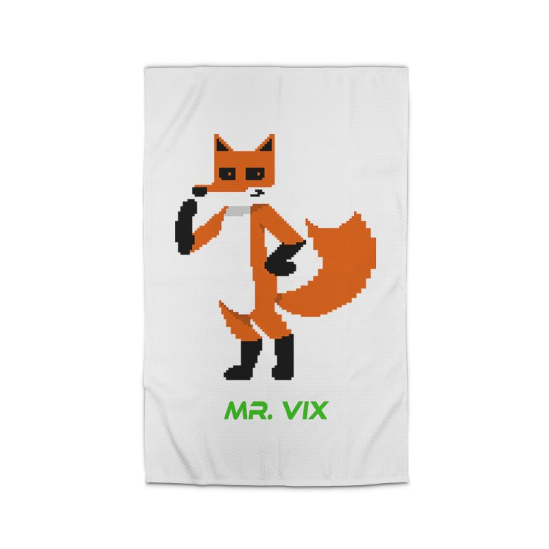 MR. VIX Pixel Fox Home Rug by The Mad Genius Artist Shop