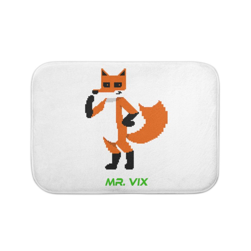 MR. VIX Pixel Fox Home Bath Mat by The Mad Genius Artist Shop