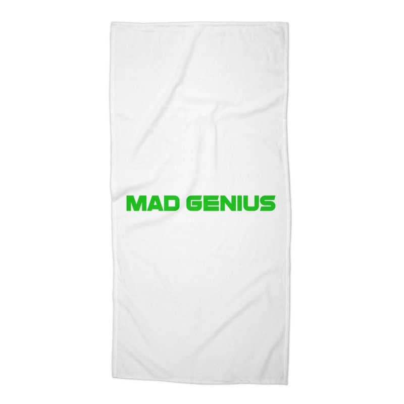Mad Genius Logo Accessories Beach Towel by The Mad Genius Artist Shop