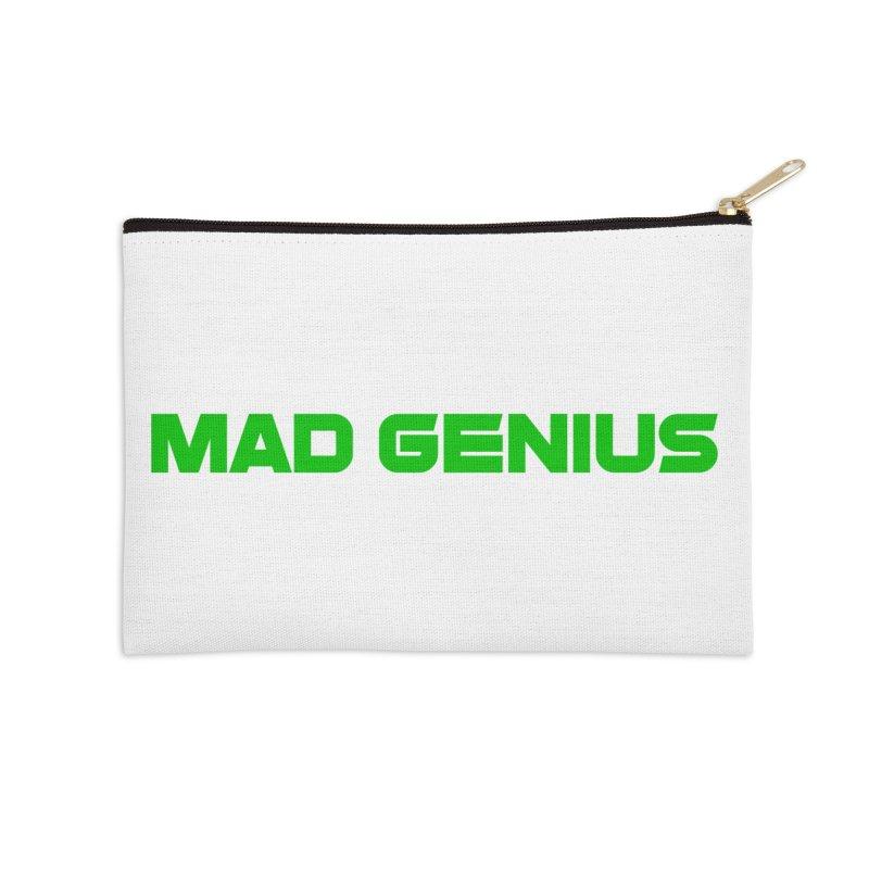 Mad Genius Logo Accessories Zip Pouch by The Mad Genius Artist Shop