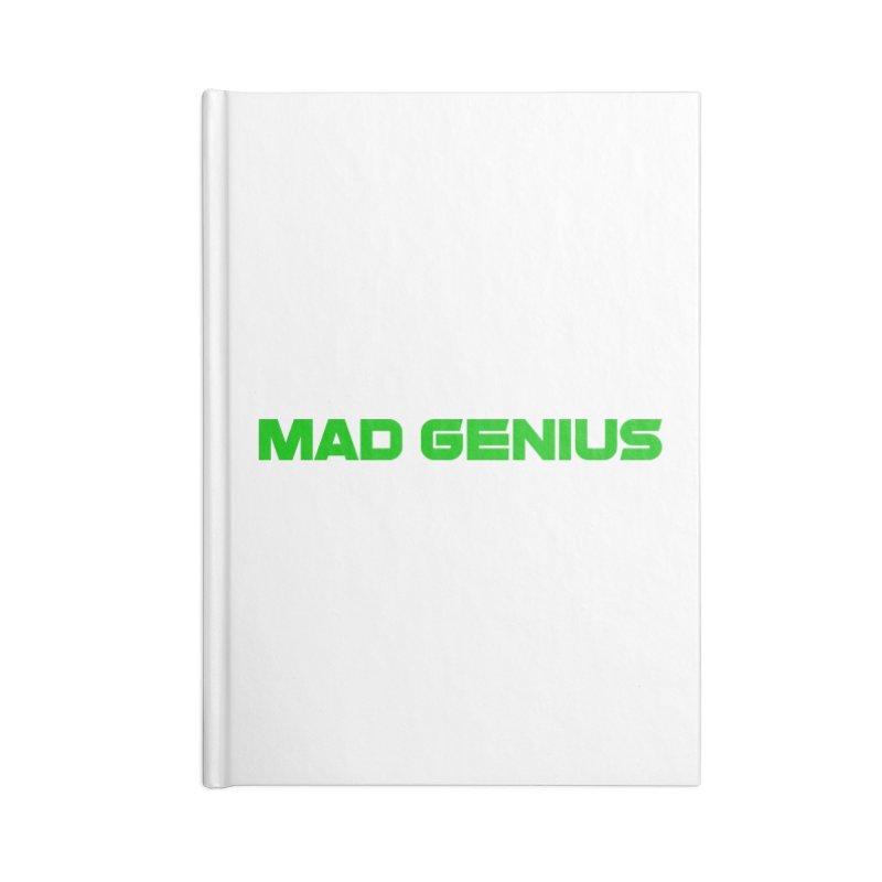 Mad Genius Logo Accessories Notebook by The Mad Genius Artist Shop