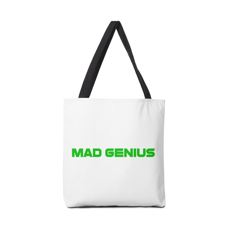 Mad Genius Logo Accessories Bag by The Mad Genius Artist Shop