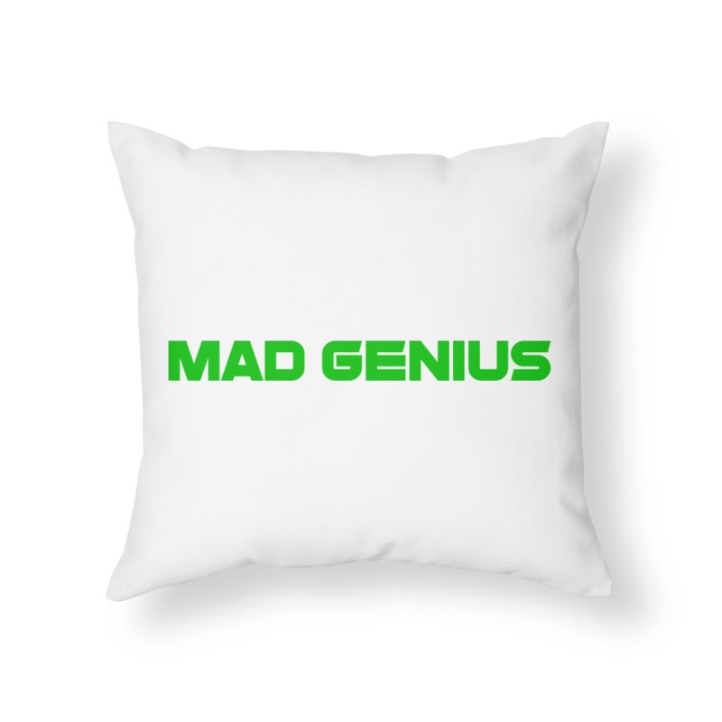 Mad Genius Logo Home Throw Pillow by The Mad Genius Artist Shop