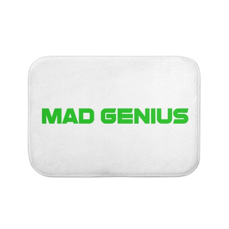 Mad Genius Logo Home Bath Mat by The Mad Genius Artist Shop
