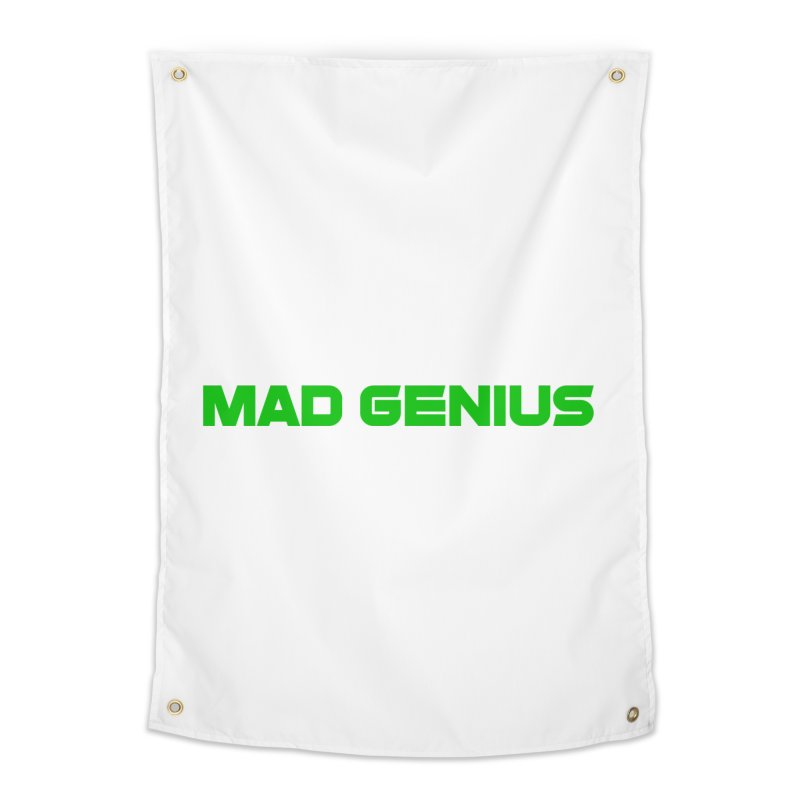 Mad Genius Logo Home Tapestry by The Mad Genius Artist Shop