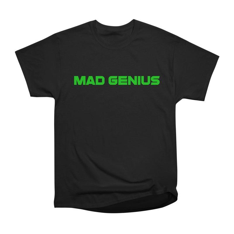 Mad Genius Logo Men's Heavyweight T-Shirt by The Mad Genius Artist Shop