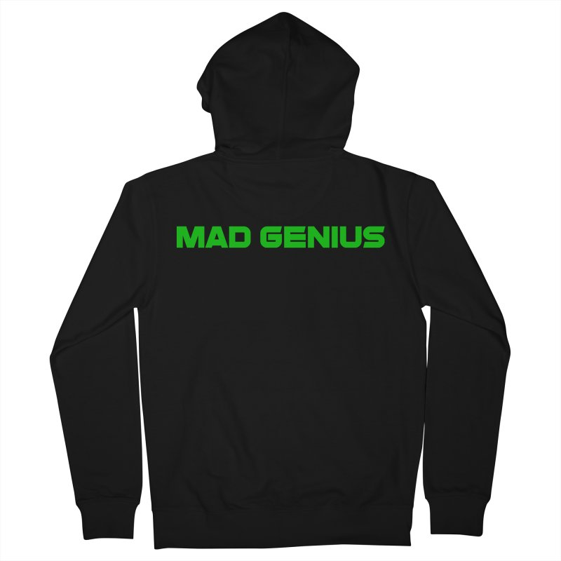 Mad Genius Logo Men's French Terry Zip-Up Hoody by The Mad Genius Artist Shop