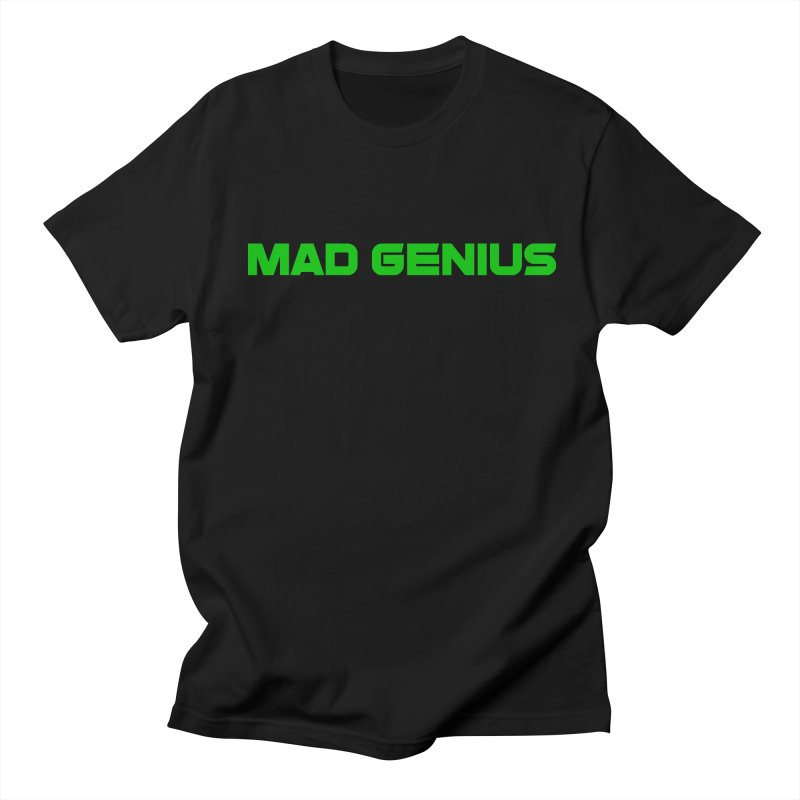 Mad Genius Logo Men's Regular T-Shirt by The Mad Genius Artist Shop