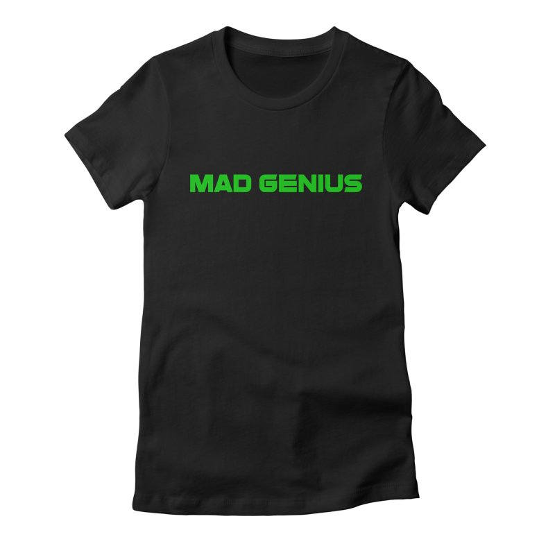 Mad Genius Logo Women's Fitted T-Shirt by The Mad Genius Artist Shop