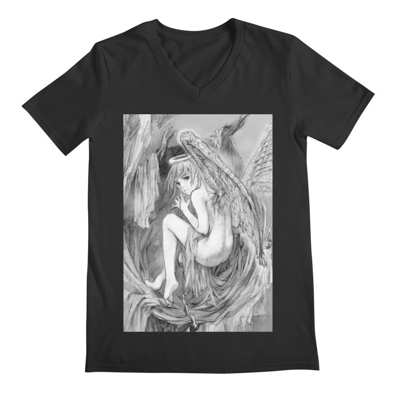 Angelica Obfuscura Men's V-Neck by MaddFictional's Artist Shop