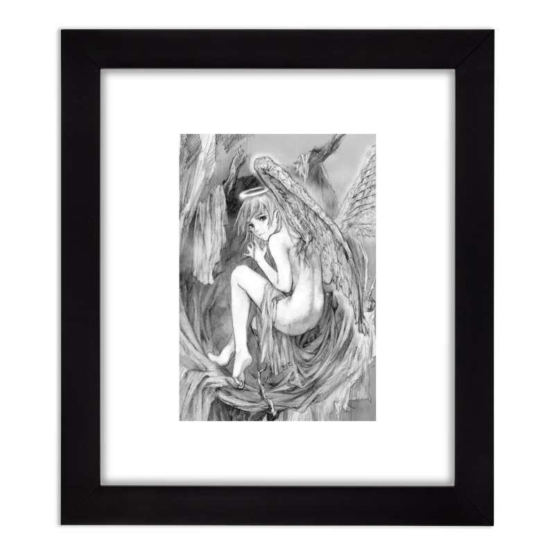 Angelica Obfuscura Home Framed Fine Art Print by MaddFictional's Artist Shop