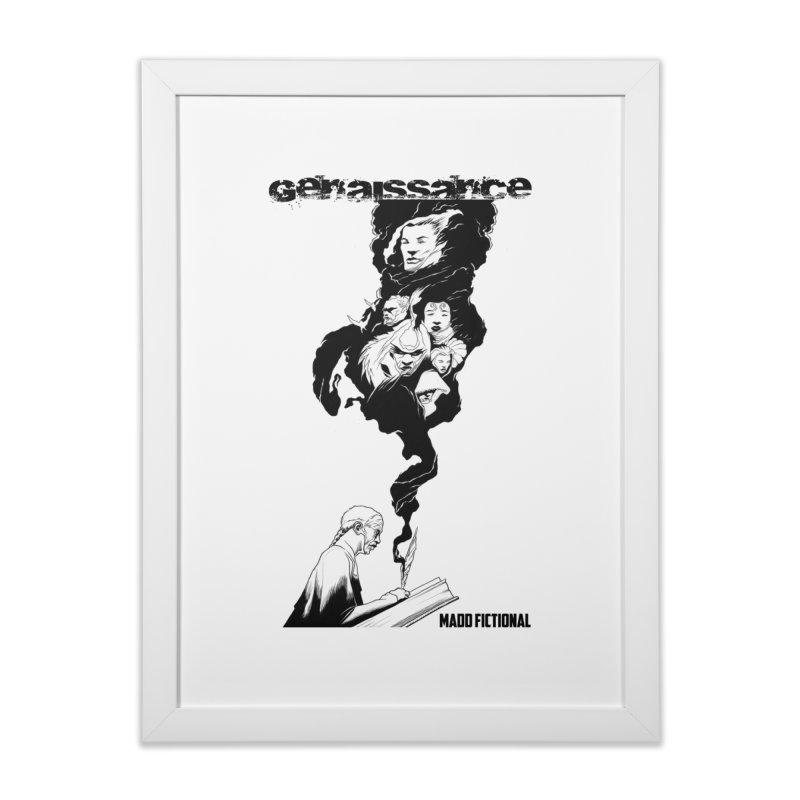Genaissance - Enoch the Scribe Home Framed Fine Art Print by MaddFictional's Artist Shop