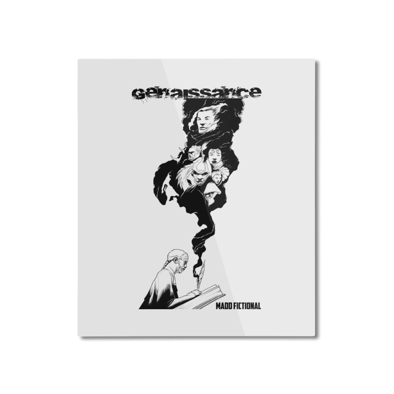 Genaissance - Enoch the Scribe Home Mounted Aluminum Print by MaddFictional's Artist Shop