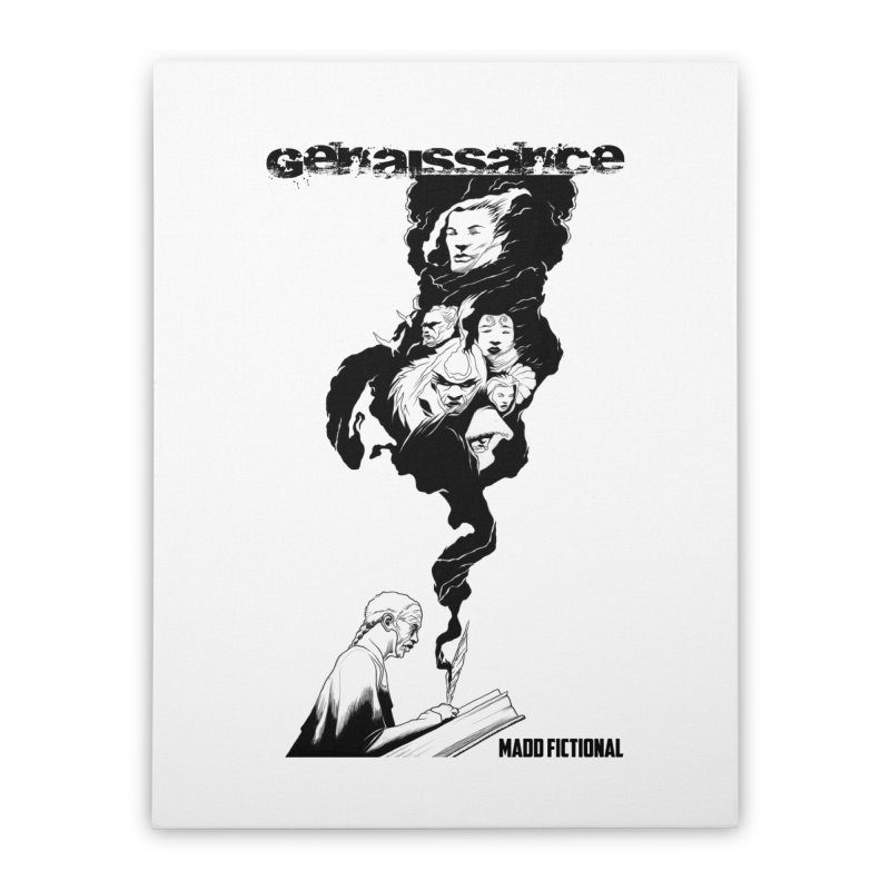Genaissance - Enoch the Scribe Home Stretched Canvas by MaddFictional's Artist Shop
