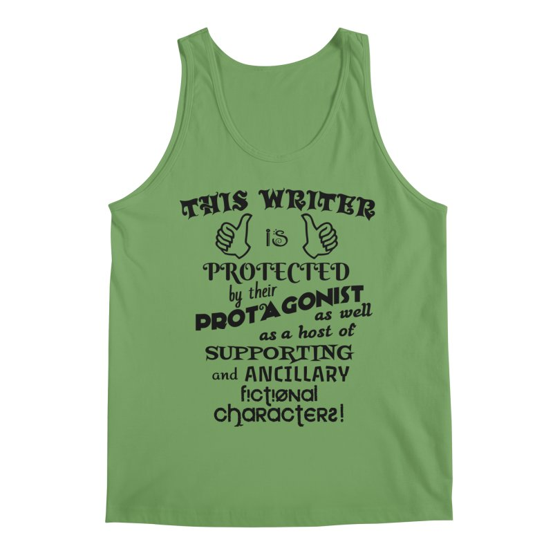 This Writer is Protected Men's Tank by MaddFictional's Artist Shop