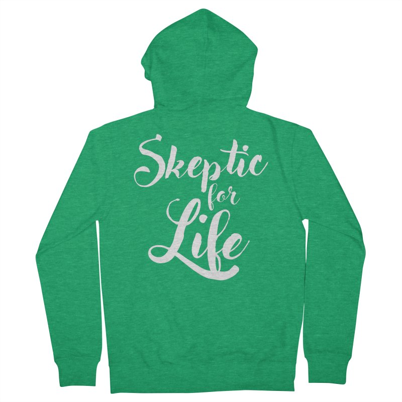 Skeptic for Life Men's Zip-Up Hoody by MaddFictional's Artist Shop