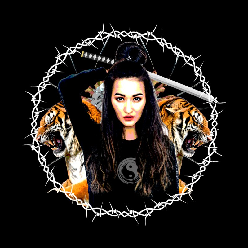 Lady Tiger Samurai Home Framed Fine Art Print by MaddFictional's Artist Shop