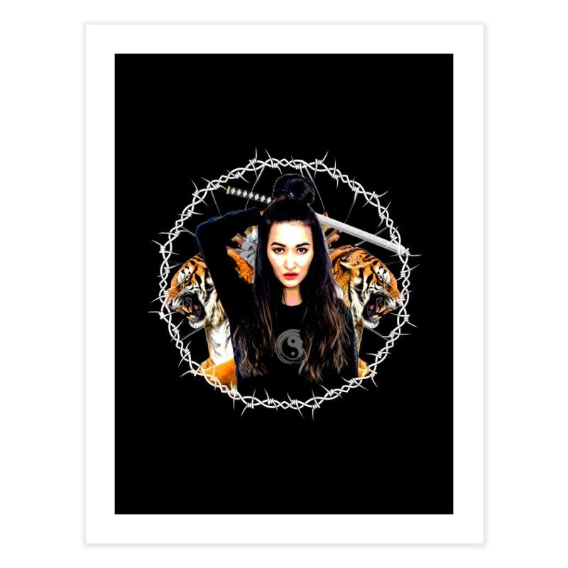 Lady Tiger Samurai Home Fine Art Print by MaddFictional's Artist Shop