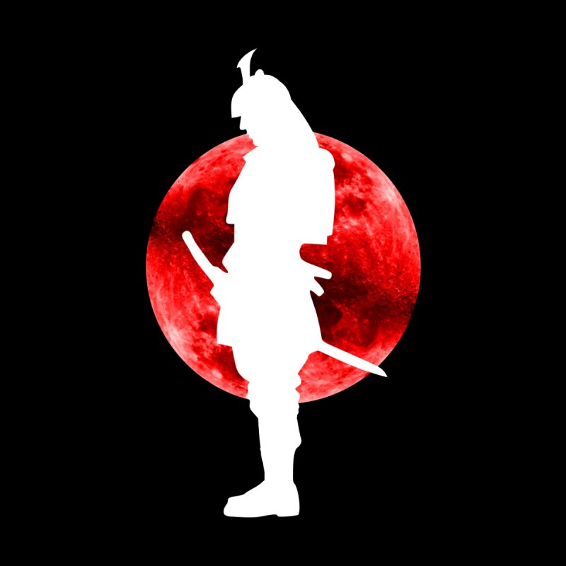 The White Samurai of the Blood Moon Home Bath Mat by MaddFictional's Artist Shop
