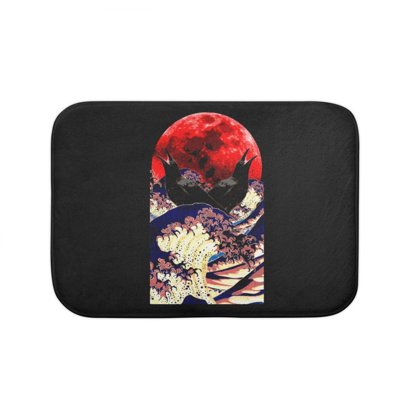 Ravens of the Blood Moon Home Bath Mat by MaddFictional's Artist Shop