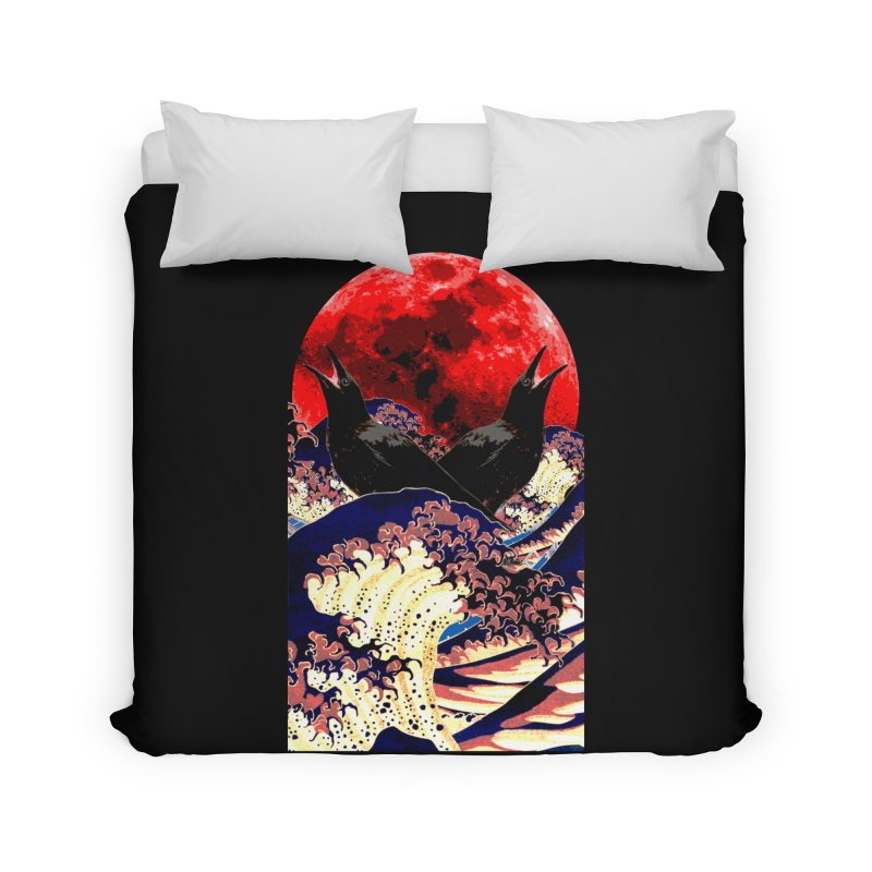 Ravens of the Blood Moon Home Duvet by MaddFictional's Artist Shop