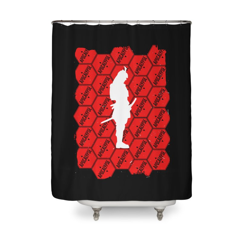 White Shadow Samurai of the Apocalypse Home Shower Curtain by MaddFictional's Artist Shop