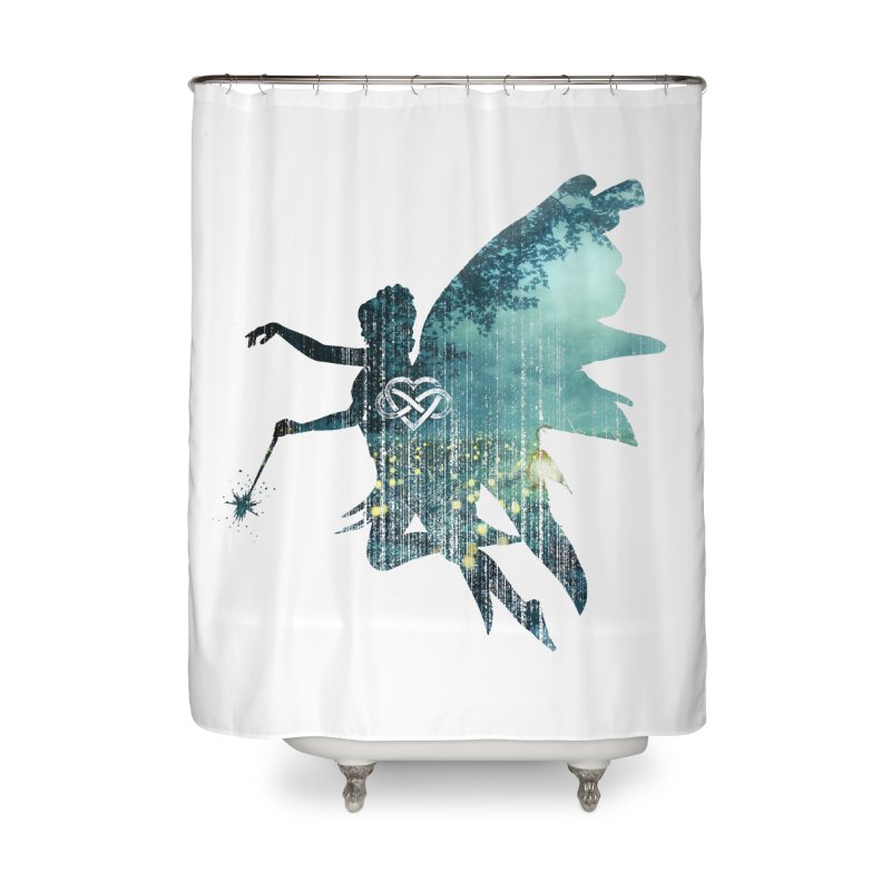 Midnight Mystic Forest Dream Pixie Home Shower Curtain by MaddFictional's Artist Shop