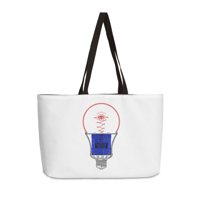 All Illuminating Lightbulb Accessories Bag by MaddFictional's Artist Shop