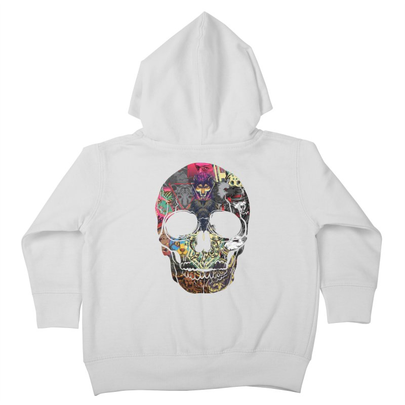 Beast Collage Skull Kids Toddler Zip-Up Hoody by MaddFictional's Artist Shop