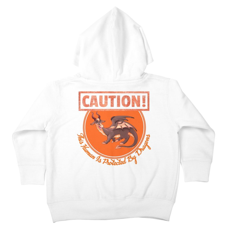 Protected by Dragons Kids Toddler Zip-Up Hoody by MaddFictional's Artist Shop