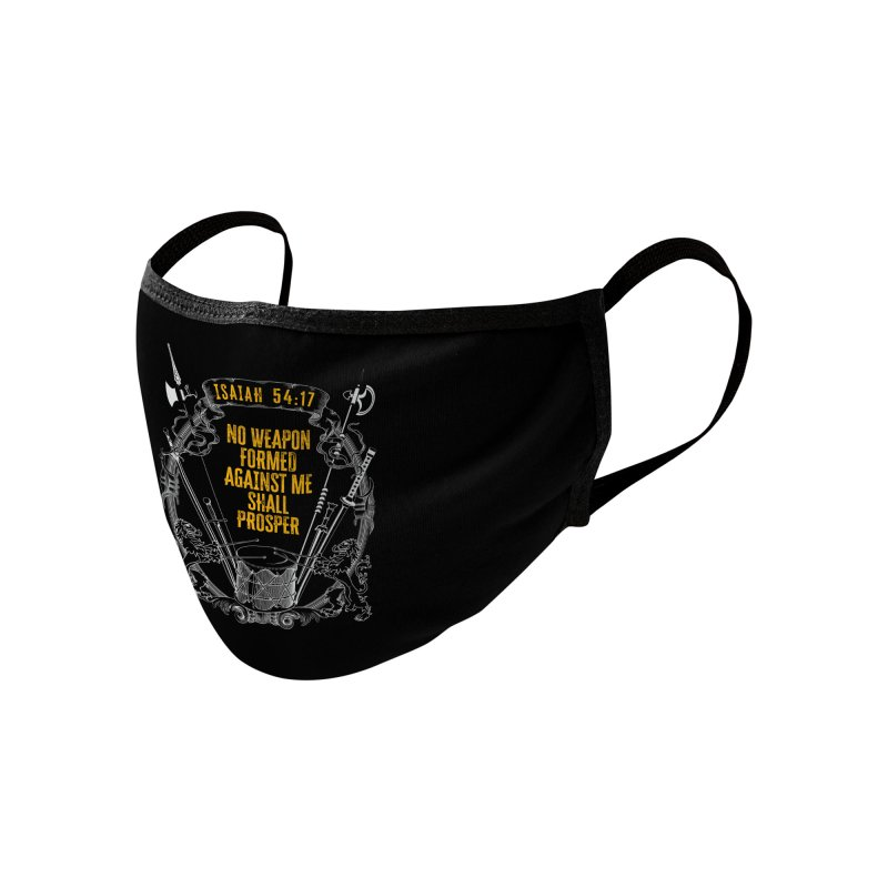 No Weapon Formed Against Me Shall Prosper Accessories Face Mask by MaddFictional's Artist Shop