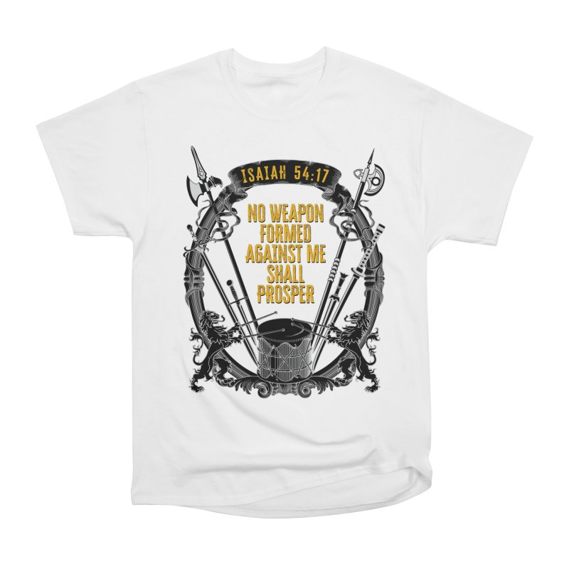 No Weapon Formed Against Me Shall Prosper Men's T-Shirt by MaddFictional's Artist Shop