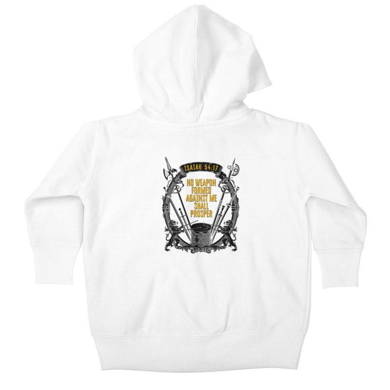 No Weapon Formed Against Me Shall Prosper Kids Baby Zip-Up Hoody by MaddFictional's Artist Shop