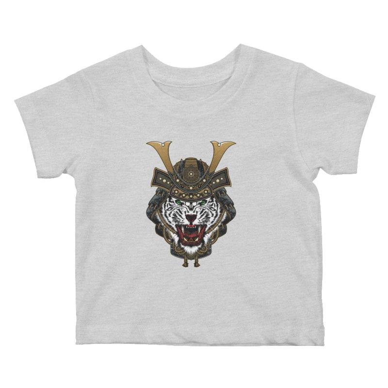 White Tiger Samurai Kids Baby T-Shirt by MaddFictional's Artist Shop