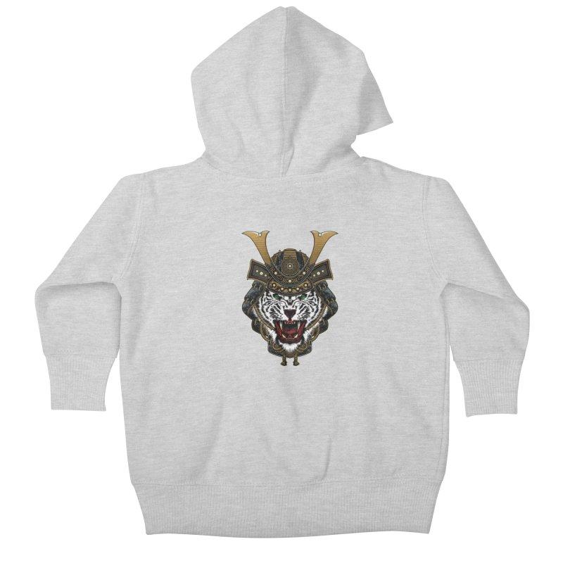 White Tiger Samurai Kids Baby Zip-Up Hoody by MaddFictional's Artist Shop
