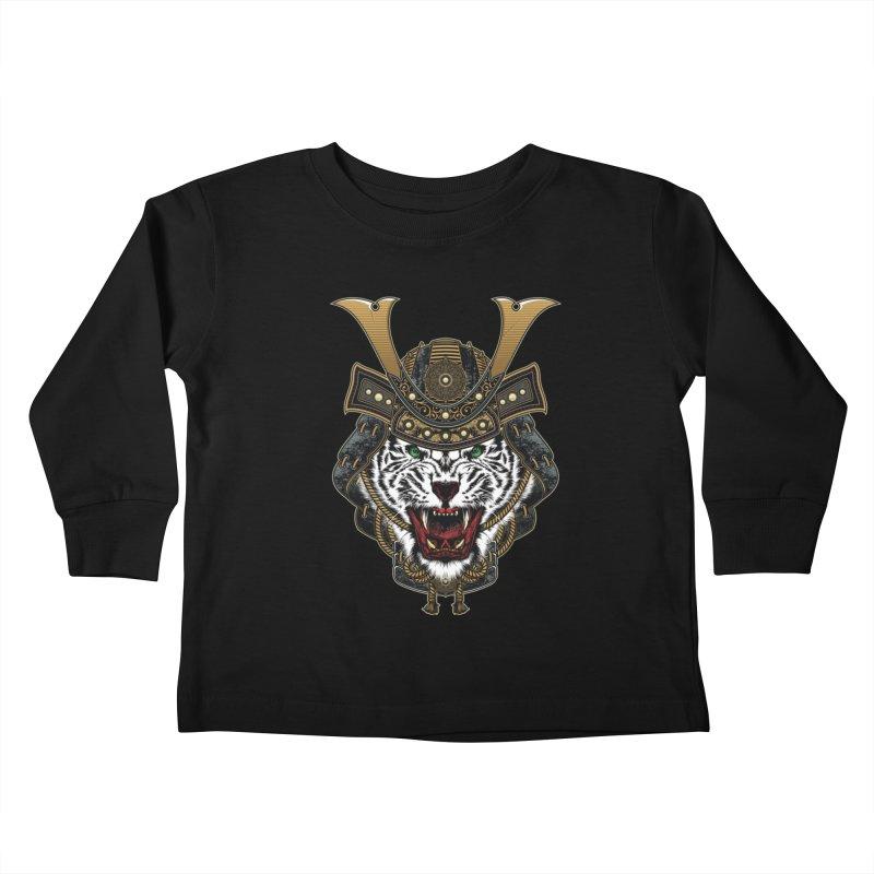 White Tiger Samurai Kids Toddler Longsleeve T-Shirt by MaddFictional's Artist Shop